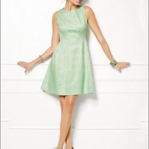 Aqua Eva Mendez Flattering Dress Work Layering